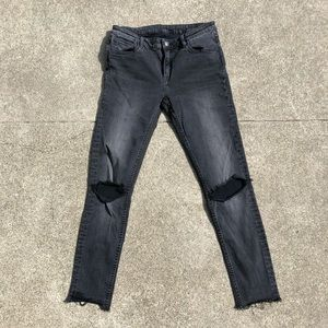Vigoss Washed Black Ripped Jeans